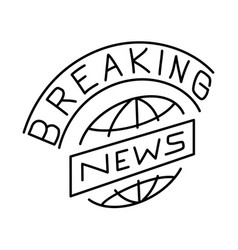 breaking news icon doodle hand drawn or outline vector image