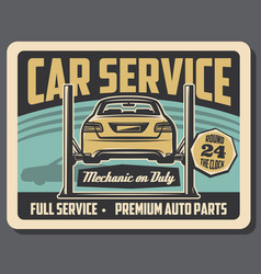 Car chassis mechanic and repair service vector