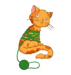 cartoon cat playing vector image