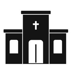 catholic church icon simple style vector image