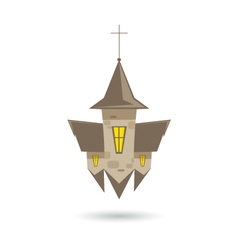 Church isolated on a white backgrounds vector image
