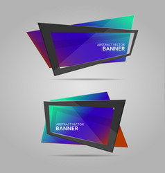 colorful banner with frame vector image