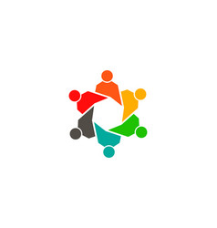 Community responsable group people logo vector