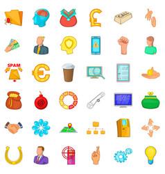 company icons set cartoon style vector image