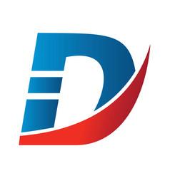 creative letter d logo vector image