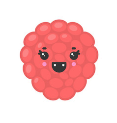 cute smiling exotic lychee isolated colorful vector image