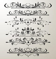 decorative page design 3 vector image