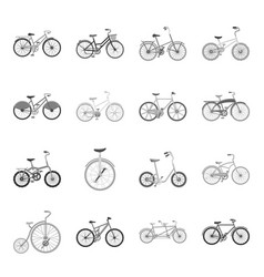 Different models of bicycles different bicycle vector