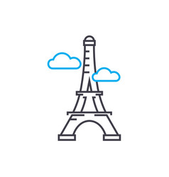 eiffel tower linear icon concept eiffel tower vector image