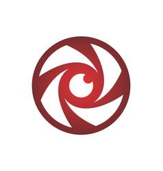 eye lens camera logo icon vector image