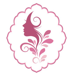 Face of a beautiful woman s profile vector