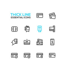 finance - modern single thick line icons vector image