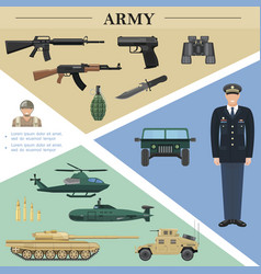flat army elements template vector image