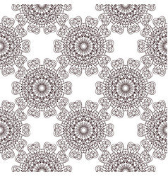 floral filigree background seamless pattern vector image