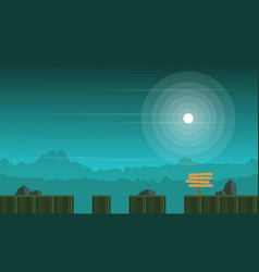 Game background style at night scenery vector