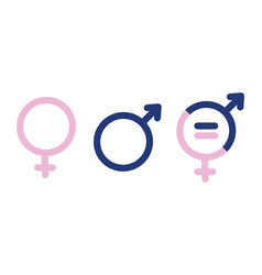 gender symbols male female sex sign gender vector image