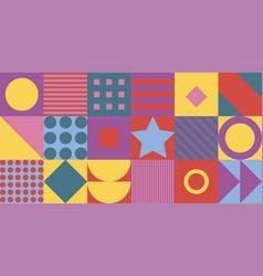 Geometric pattern background flat design vector