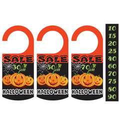 halloween sale 3 vector image