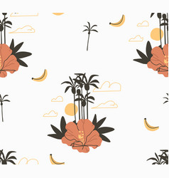 hand drawn abstract stock graphic summer vector image