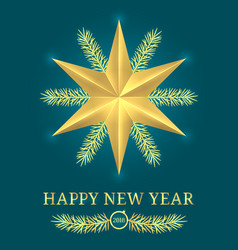 happy new year 2018 holiday banner vector image