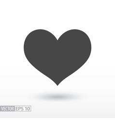 Heart flat Icon Sign heart logo for web design vector image