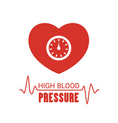 High blood pressure icon high blood pressure icon vector