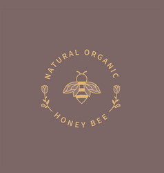 honey bee logo vector image