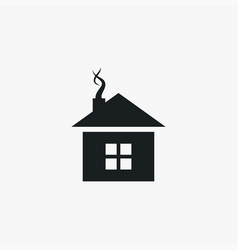 house icon simple winter sign vector image