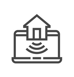 internet things smart house line icons vector image