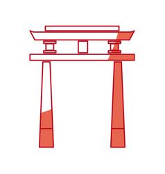 japanese gate monument antique culture vector image