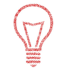 Lamp bulb fabric textured icon vector