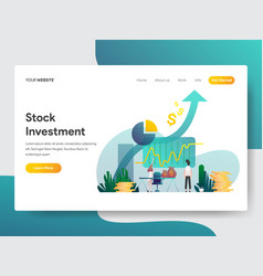 landing page template stock investment vector image