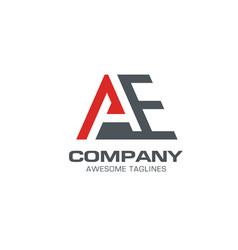 Letter ae modern logo a logo vector