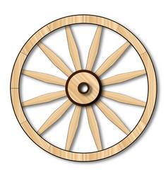 Light wagon wheel vector