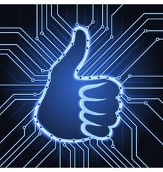 like sign electronics vector image