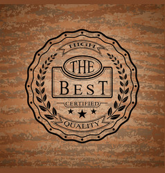 logo of high quality product vector image