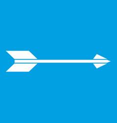Long arrow icon white vector