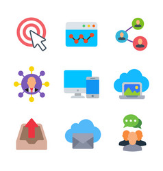 marketing and seo colored trendy icon pack 2 vector image