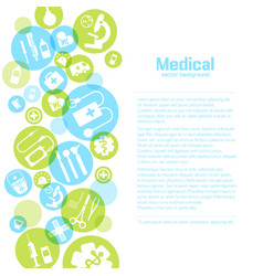 Medical treatment light poster vector
