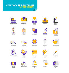 modern material flat design icons - healthcare vector image