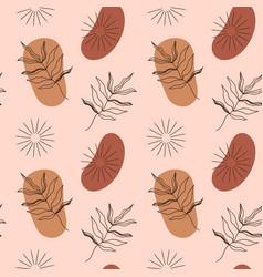 Modern terracotta abstract seamless pattern vector