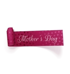Mothers day realistic festive curved ribbon vector