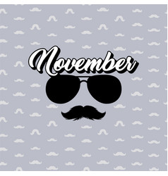 Moustaches and sunglasses poster black vector