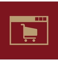 Online shopping icon design e-commerce vector