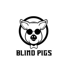 pig blind logo vector image