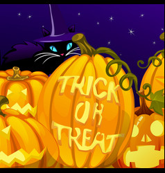 poster in style holiday all evil halloween the vector image