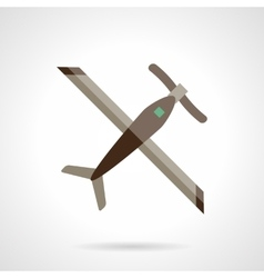 RC plane flat color design icon vector image