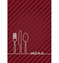 Red a4 menu vector