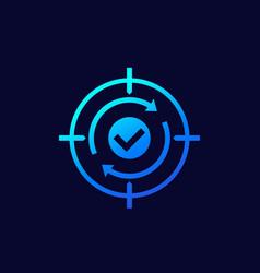 retargeting icon digital marketing vector image