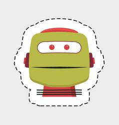 robot head vector image